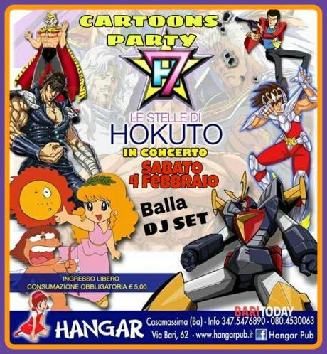 Cartoons Party Concerto STELLE di HOKUTO e Dj.set