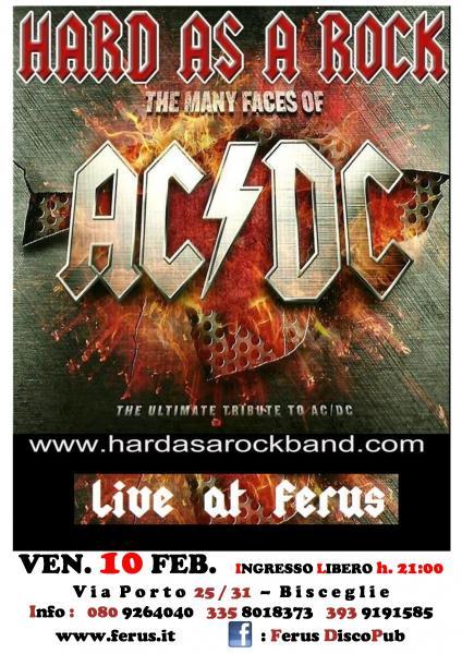 """AC/DC tribute live con gli """" HARD AS A ROCK """""""