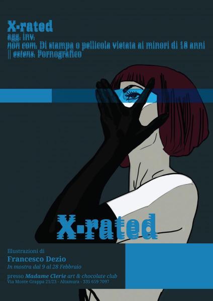 X-RATED - mostra illustrazioni di Francesco Dezio