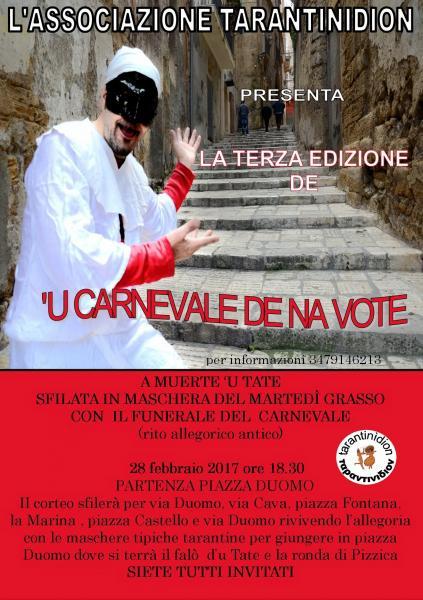 """""""'U CARNEVALE DE NA VOTE terza edizione"""""""