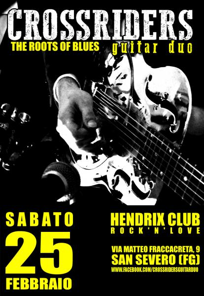 Crossriders Guitar Duo live at Hendrix Club, San Severo (FG)