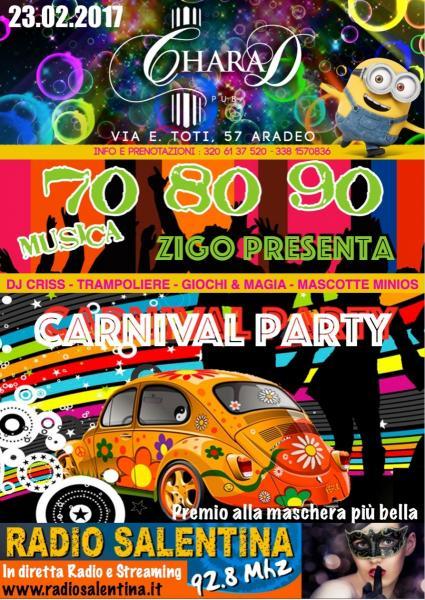 Carnival Party al Charad Pub Aradeo