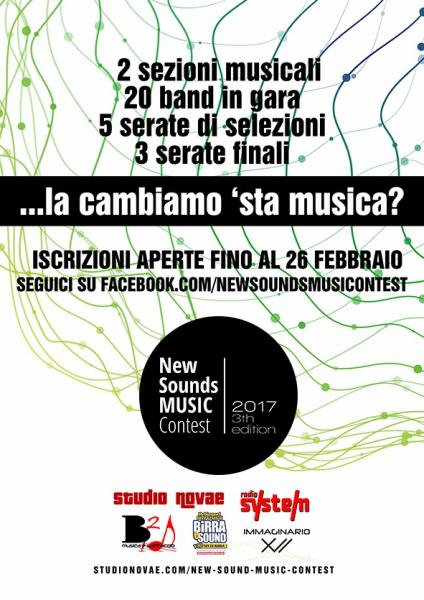 """La terza edizione di """"New Sounds"""", il contest per la musica emergente di Puglia"""