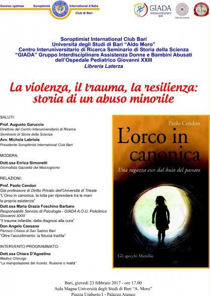 La violenza, il trauma, la resilienza: storia di un abuso minorile