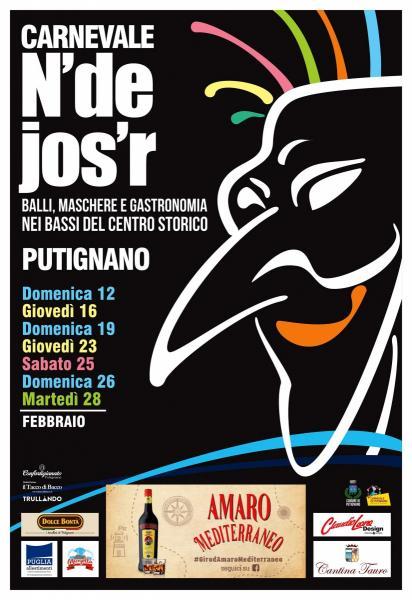 Carnevale N'de Jos'r – balli maschere e gastronomia nei bassi del centro storico (SABATO DI CARNEVALE)