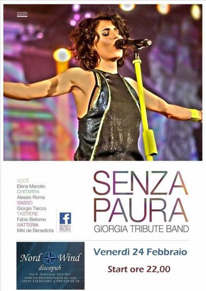 Senza Paura - GIORGIA tribute in concerto al Nordwind discopub