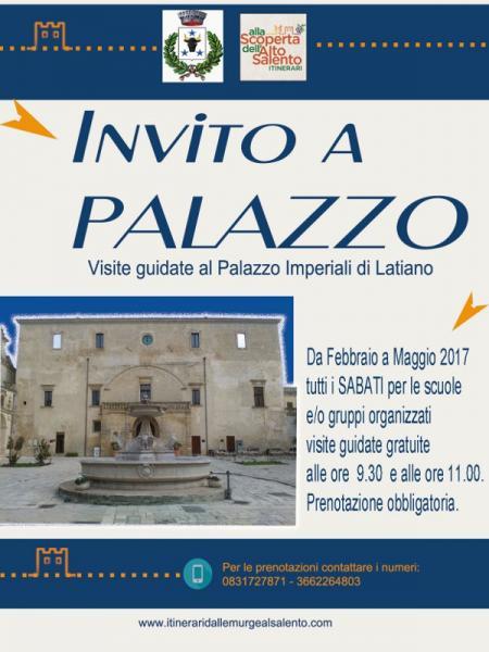 Invito a Palazzo - visite guidate gratuite al Palazzo Imperiali di Latiano