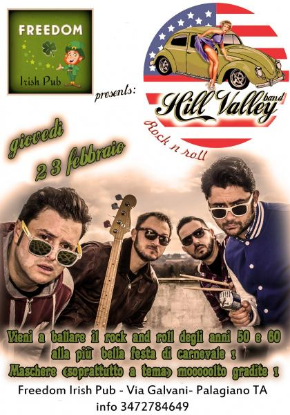 Hill Valley Band live Freedom Irish Pub Palagiano