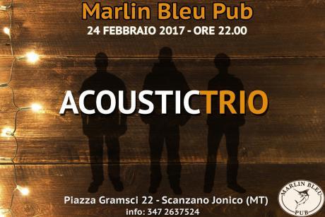 Musica acustica al Marlin Bleu Pub con l'Acoustic Trio