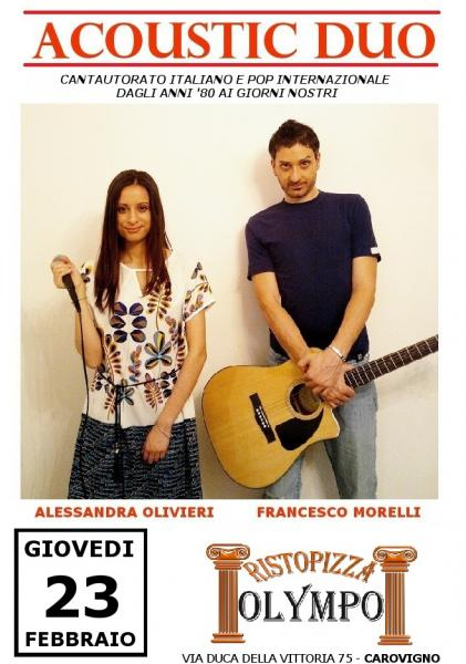 Acoustic Duo dal vivo al risto-pizza Olympo