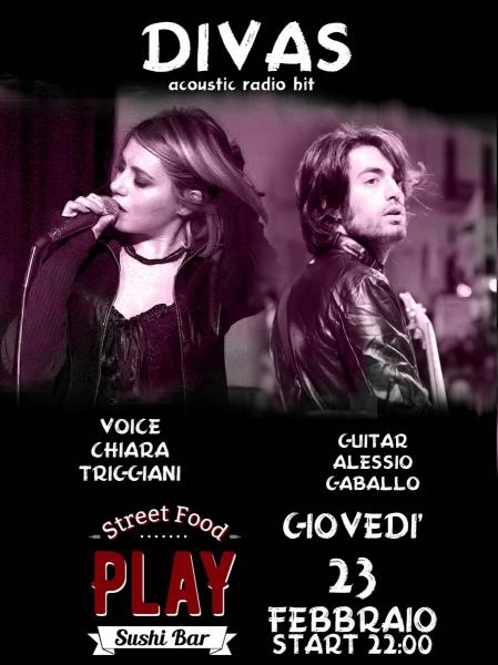 Divas Duo live al Play street food & sushi bar