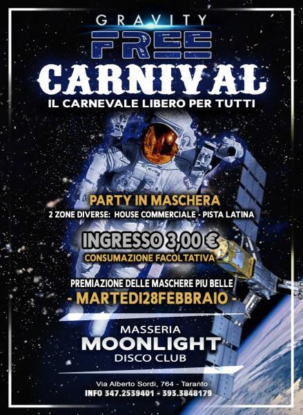 Free Carnival alla Masseria MOONLIGHT DISCO - Taranto (Martedi Grasso 28 Febbraio)