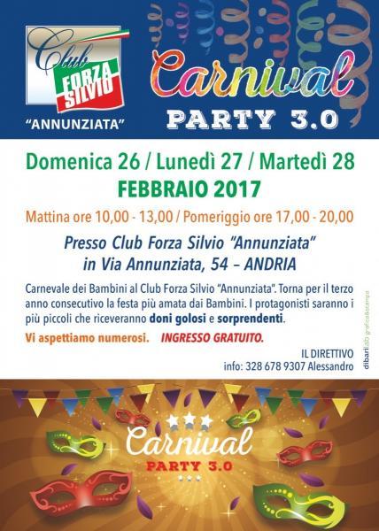 """Carnival Party 3.0 al Club Forza Silvio """"Annunziata"""""""