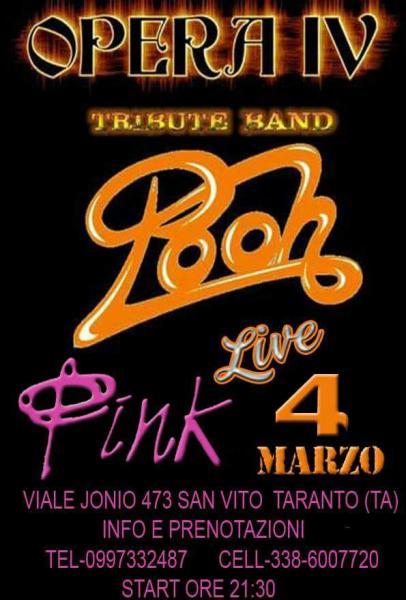 OPERA IV - Tribute Band dei Pooh, il 4 marzo, al Pink