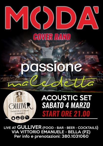 Passione Maledetta - Cover Band Modà Acoustic Set live Gulliver Bella (PZ)