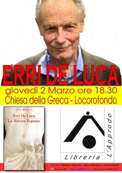 """Erri De Luca presenta """"La Natura Esposta"""""""