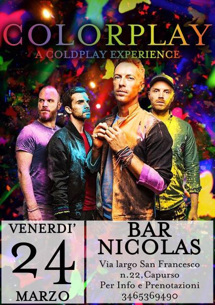 Colorplay a Coldplay experience al Bar Nicolas Capurso