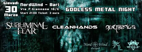 Subliminal Fear + CleanHands + Death2Pigs in concerto al Nord wind discopub