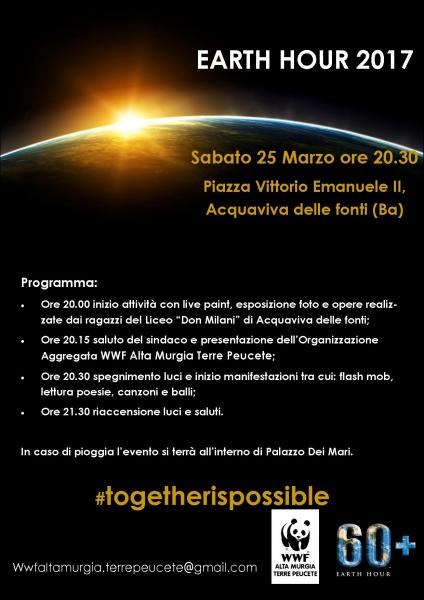 EARTH HOUR , insieme per il clima #TOGETHERISPOSSIBLE