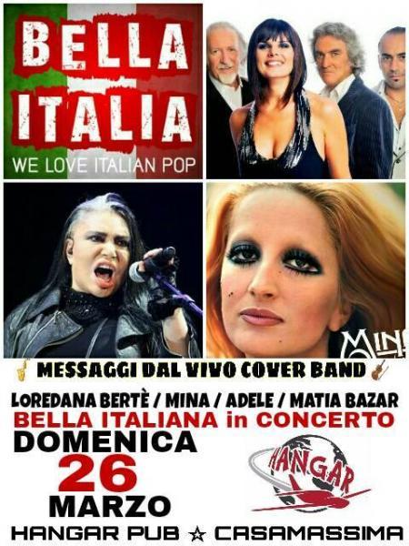 Concerto omaggio Bertè / Mina / Adele / Matia Bazar /BELLA ITALIA POP