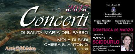 """""""Concerti di Santa Maria del Passo"""" - Organista Margherita Sciddurlo"""