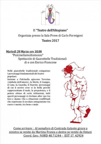 """""""Pulcinellamoltomosso"""" Spettacolo di Guarattelle Tradizionali"""
