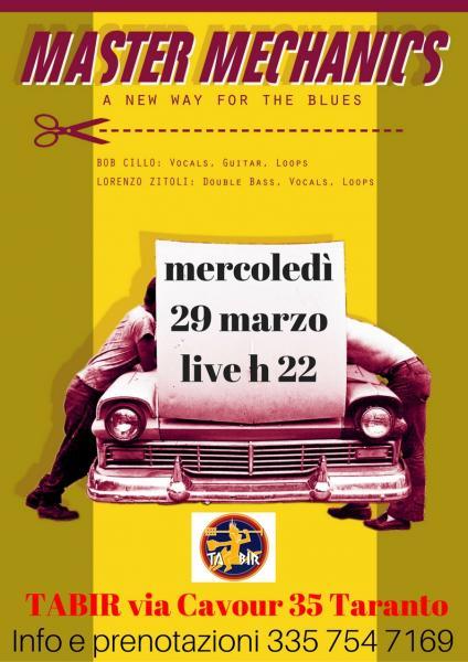 Master Mechanics live blues da TABIR Taranto