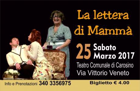 """Commedia """" La lettara di Mammà"""""""