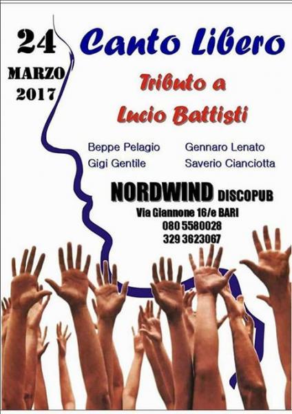 Canto Libero  canta  Lucio Battisti al Nordwind