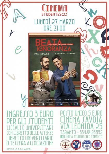 """""""Beata Ignoranza"""" in rassegna al cinema Savoia"""