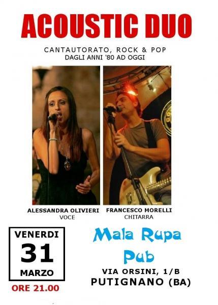 Acoustic Duo in concerto al pub Mala Rupa