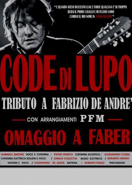 CODE di LUPO in concerto Omaggio a F.De Andrè e PFM