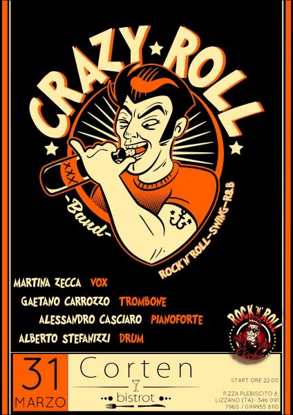 Crazy Roll Band -  Rock'n'roll, Swing, R&B at Corten Bistrot