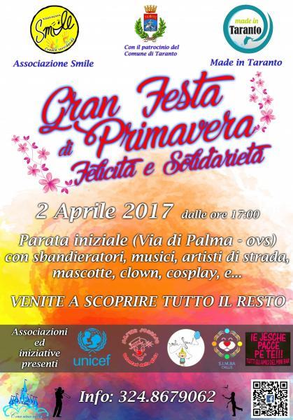 Gran Festa di Primavera, Felicità & Solidarietà