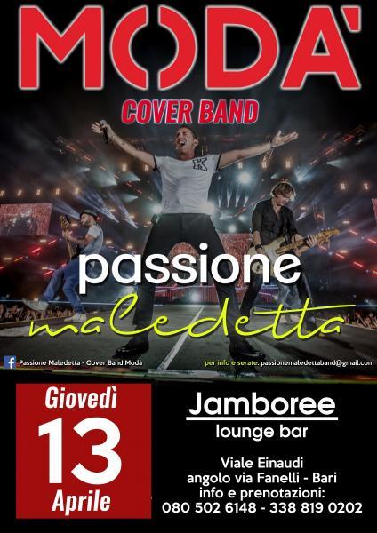Passione Maledetta Cover Band Modà live Jamboree Bari