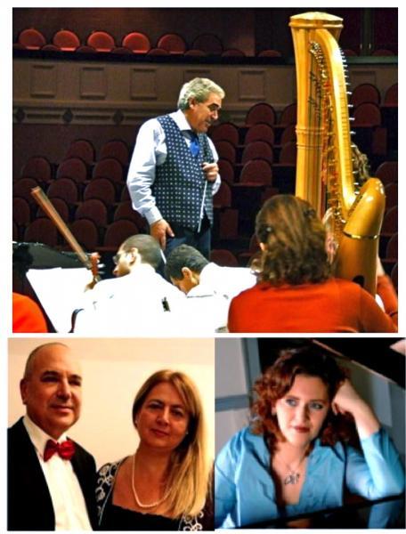 Lentini dirige Rach. 3 e PianoDuet Concert  di Czerny  per il PianoFestival San Nicola dell'EurOrchestra