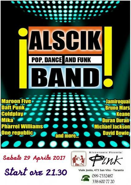 Gli ALSCIK BAND chiuderanno in bellezza il mese degli eventi musicali del mese di aprile al PINK