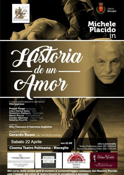 Michele Placido a Bisceglie per la prima nazionale di Historia de un amor