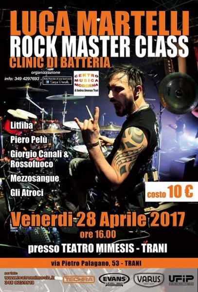 LUCA Martelli ROCK Master CLASS clinic di batteria a Trani