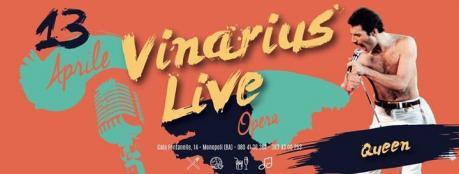 """Giovedi 13 A Night with Queen - Opera live """"Vinarius"""" Monopoli"""