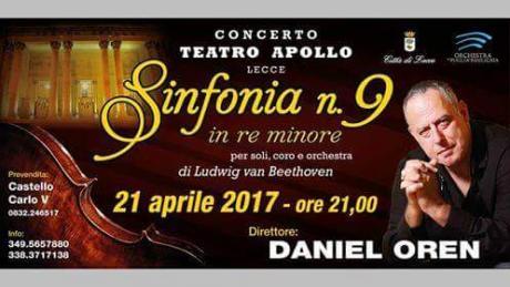 Il celebre direttore d'orchestra Daniel Oren in concerto al Teatro Apollo di Lecce