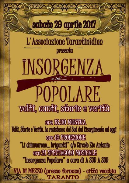 """""""Insorgenza Popolare! volti, canti, storie e verità"""""""