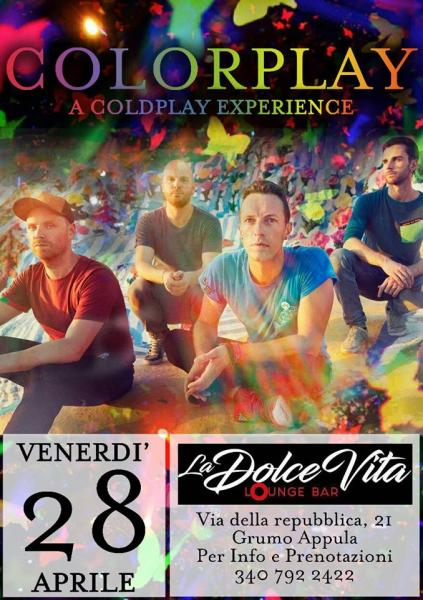 Colorplay a Coldplay Experience live