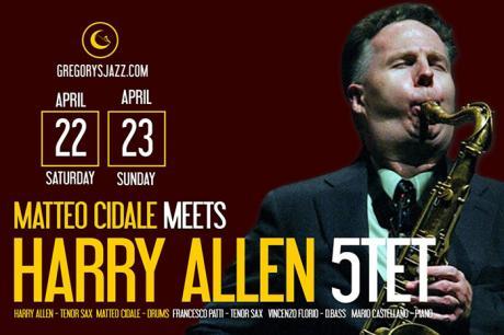 Harry Allen 5tet meets Matteo Cidale - 22 e 23 aprile 2017