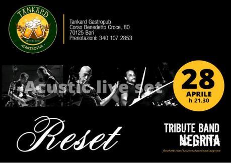 Reset Live - Tribute band Negrita