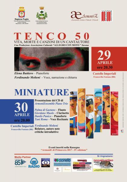 """TENCO 50 """"Vita, morte e canzoni di un cantautore"""" - DUO Buttiero Molteni"""