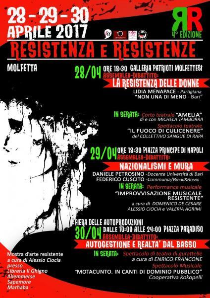 FESTIVAL RESISTENZA E RESISTENZE (4a edizione)