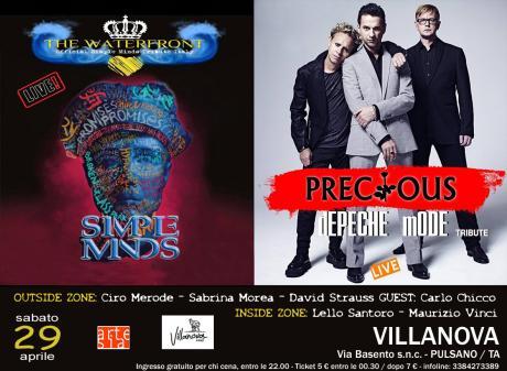 The Waterfront / Simple Minds Tribute meets Precious / Depeche Mode Tribute +Double Zone Dj Set