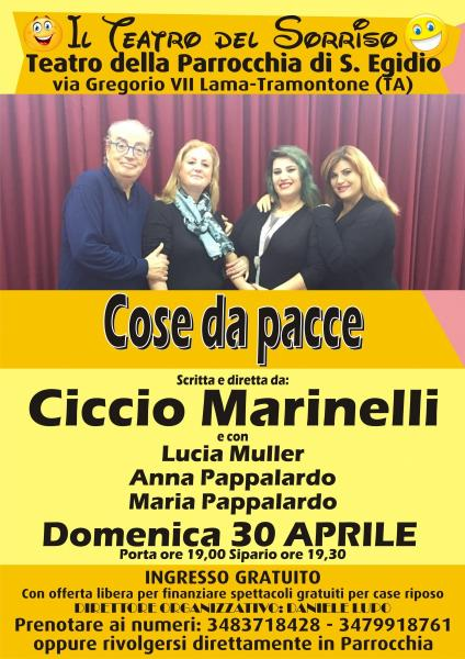 Grande spettacolo gratuito di Ciccio Marinelli a Taranto