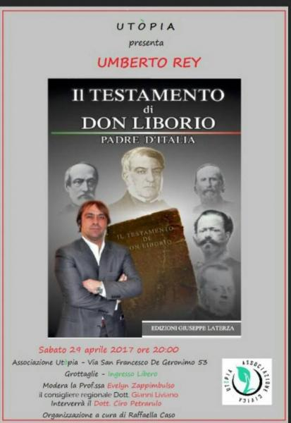 """Utòpia presenta """"Il Testamento di Don Liborio"""""""